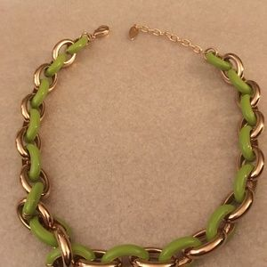 Coldwater Creek Necklace Lime Green/Gold Necklace